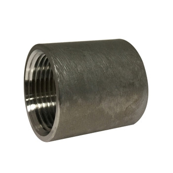 2 In. Diameter, 2-1/8 In. Overall Length, Merchant Coupling, Straight Threads, 304 Stainless Steel