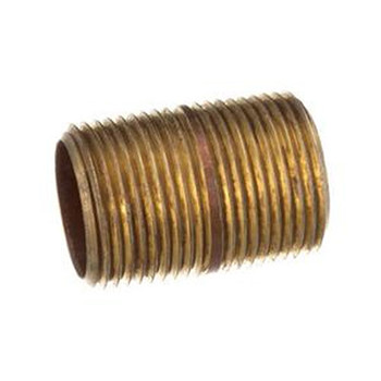 1/8 in. x 3/4 in. (Close) Brass Pipe Nipple, NPT Threads, Schedule 40 Nipples & Pipe Fittings