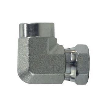 3/8 in. FNPT x 3/8 in. FNPSM Steel Female Union Elbow Swivel Hydraulic Adapter