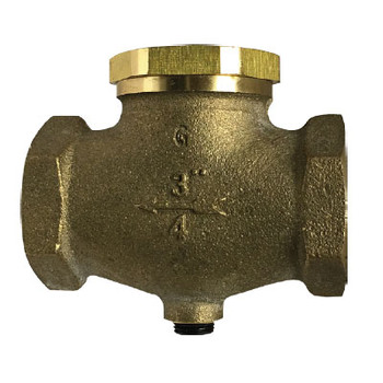1/4'' In-Line Check Valve, Vertical or Horizontal, Cast Bronze Body, Working Pressure: 250 PSI, Repairable