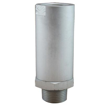 3/8 in. Repairable Air/Oil Inline Filter, Anodized Aluminum Body, Max Operating Pressure: 300 PSI, Lightweight