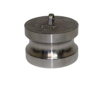 6 in. Type DP Dust Plug 316 Stainless Steel Camlocks (Male End Adapter)