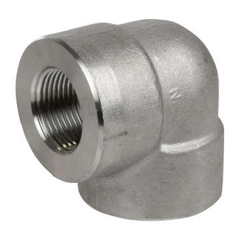 2 in. Threaded NPT 90 Degree Elbow 304/304L 3000LB Stainless Steel Pipe Fitting