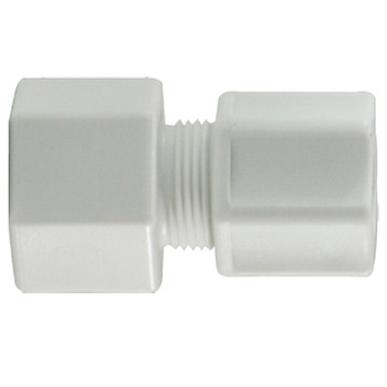 3/8 x 3/8 in. Compression x FIP, Polypropylene Compression Female Connector, FDA & NSF Listed
