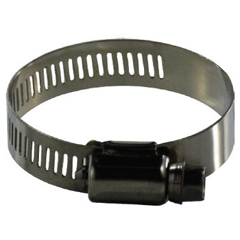 #8 Marine Worm Gear Clamp, 316 Stainless Steel, 1/2 Wide Band Clamps (12.70mm)