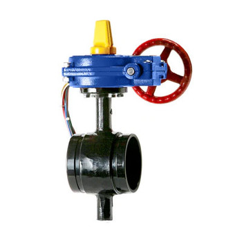 4 in. HPG Ductile Iron Butterfly Valve Grooved 300 PSI with Tamper Switch UL/FM