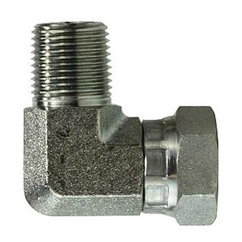 1/2 in. Male NPT x 1/4 in. Female NPSM Steel Pipe Elbow Swivel Adapter