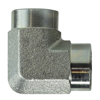3/8 in.x 3/8 in. Female 90 Degree Elbow Steel Pipe Fitting & Hydraulic Adapter