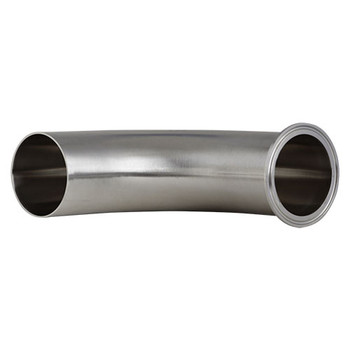 3 in. Polished 90° Clamp x Weld Elbow - L2CM - 304 Stainless Steel Sanitary Butt Weld Fitting (3-A) Bottom View