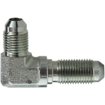 1/2-20 JIC x 1/2-20 JIC Steel Bulkhead Union Elbow Hydraulic Adapter