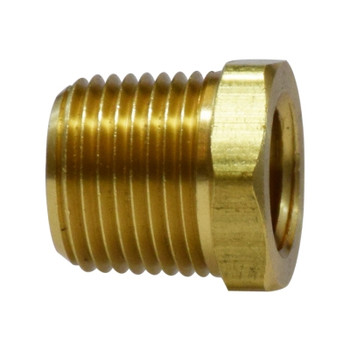 1/4 in. x 1/8 in. Hex Bushing, MIP x FIP, NPFT Threads (MxF) Light Pattern, Up to 1200 PSI, Brass, Pipe Fitting