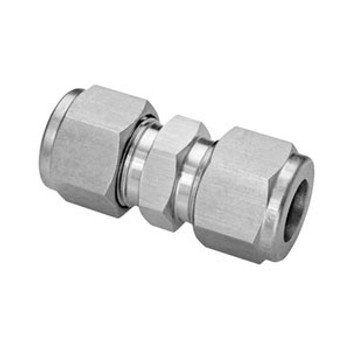 3/16 in. Tube Union - Double Ferrule - 316 Stainless Steel Tube Fitting