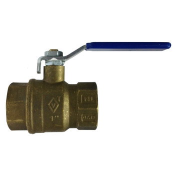 1-1/4 in. 600 WOG, Full Port, Italian Lead Free Forged Brass Ball Valve, FIP x FIP, CSA AGA