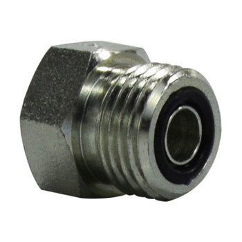 1-1/2 in. x 2-12 ORFS Plug, Steel O-Ring Face Seal Hydraulic Adapter, SAE 520109