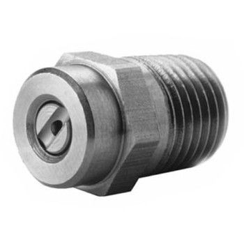 25 Degree Meg Pressure Washer Nozzle, 7250 PSI, Stainless Steel, 1/4 in. MNPT, Size Opening: 4.0