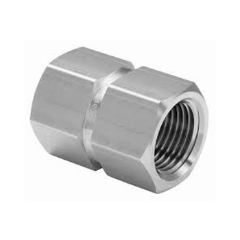 1 in. x 1 in. Threaded NPT Hex Coupling 4500 PSI 316 Stainless Steel High Pressure Fittings