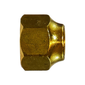 1/4 in. UNF Threaded Short Forged Nut, SAE# 010166, SAE 45 Degree Flare Brass Fitting