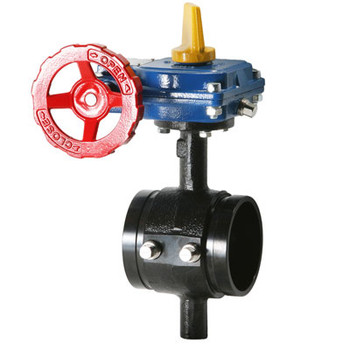 6 in. HPGT Ductile Iron Grooved Butterfly Valve, Tapped Body with Tamper Switch 300 PSI UL/FM Approved