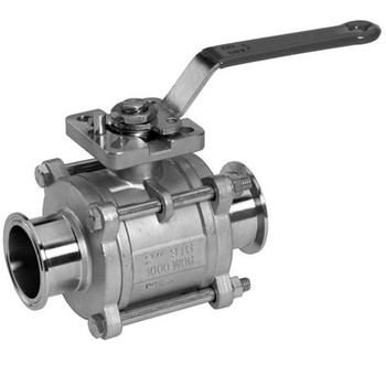 1 in. Stainless Steel Sanitary Encapsulated 2-Way Ball Valves, 1000 PSI Full Port CF8M 316 Stainless Steel