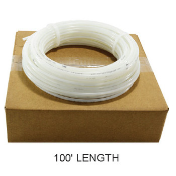 1 in. OD Linear Low Density Polyethylene Tubing (LLDPE), Natural Poly, 100 Foot Length