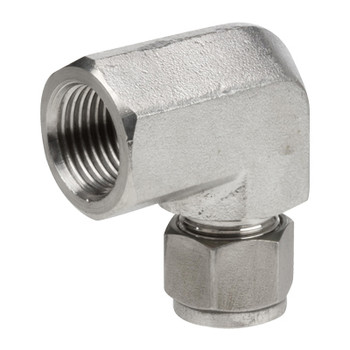 1/8 in. Tube x 1/4 in. NPT Tube to Female Pipe, 90 Degree Elbow, 316 Stainless Steel Tube/Compression Fittings