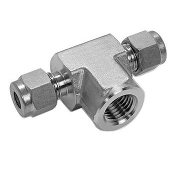 3/8 in. Tube x 1/4 in. NPT Female Branch Tee 316 Stainless Steel Fittings Tube/Compression