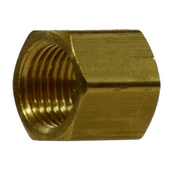 1/4 in. Cap, NPFT Threads, Up to 1200 PSI, Barstock Brass, Pipe Fitting