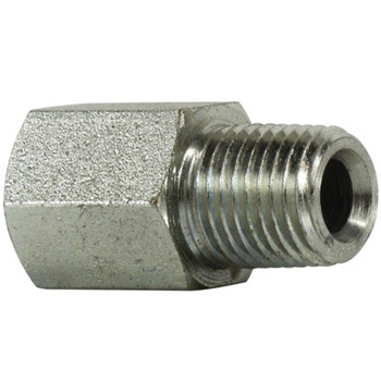 7/16-20 FORB x 1/4 in. MNPT Female O-Ring to Male Pipe Adapter Steel Hydraulic Fitting
