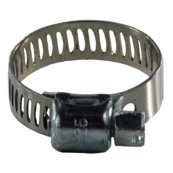 5/16 in. to 7/8 in. Miniature Worm Gear Clamp, 5/16 Band, 300 Series