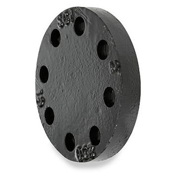 8 in. 250 lb Cast Iron Black Blind Pipe Flange