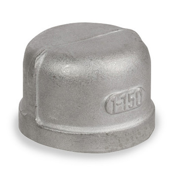 1 in. Cap - NPT Threaded 150# Cast 304 Stainless Steel Pipe Fitting