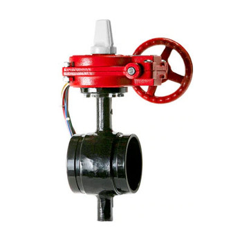 4 in. Ductile Iron Grooved Butterfly Valve, Normally Closed BFV w/ Tamper Switch 175PSI UL/FM Approved - Supervised Closed