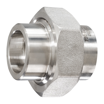 1 in. Socket Weld Union 304/304L 3000LB Forged Stainless Steel Pipe Fitting