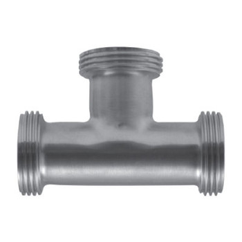 2 in. 7 Tee (3A) 304 Stainless Steel Bevel Seat Sanitary Fitting