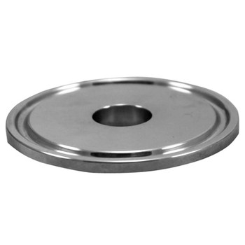 2 in. Tri-Clamp Cap with 1 in. Cut Out, 304 Stainless Steel Tri Clover Fitting