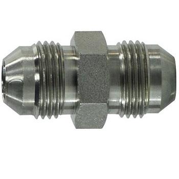 9/16-18 x 7/16-20 JIC Tube Union Steel Hydraulic Adapter