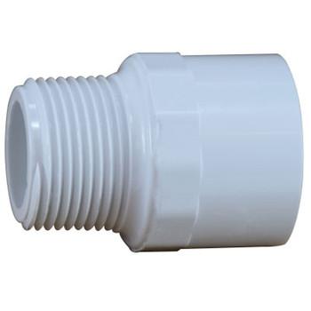 1/2 in. PVC Slip x MIP Adapter, PVC Schedule 40 Pipe Fitting, NSF 61 Certified