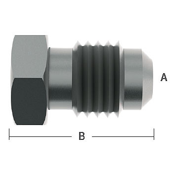 5/16 in. Male Flare Plugs 303 Stainless Steel Beverage Fitting