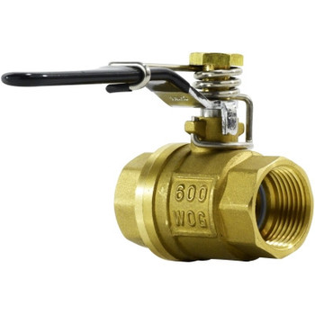 1/2 in. 600 PSI, Threaded Brass Spring Handle Ball Valve