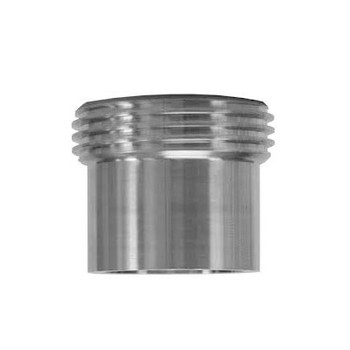 2-1/2 in. 15W Threaded Ferrule, Tank Spud (Heavy) (3A) 304 Stainless Steel Sanitary Fitting
