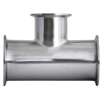 2-1/2 in. x 2 in. 7RMP Reducing (On Branch) Tee 316L Stainless Steel Sanitary Fitting