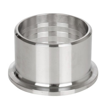 4 in. 14RMP Plain Recessless Ferrule (3A) 304 Stainless Steel Sanitary Fitting