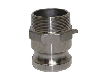 2 in. Type F Adapter 316 Stainless Steel Camlock (Male Adapter x Male NPT Thread)
