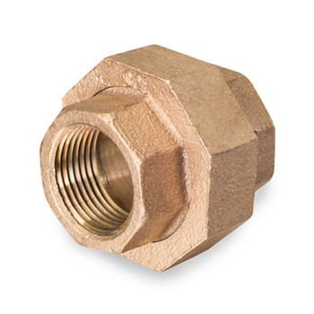 1 in. Threaded NPT Union, 125 PSI, Lead Free Brass Pipe Fitting