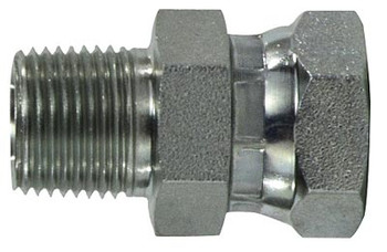 1 in. Male NPT x 1 in. Female NPSM Steel Pipe Swivel Adapter