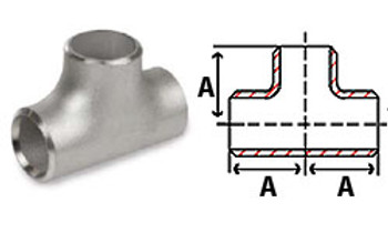 1 in. Butt Weld Tee Sch 40, 316/316L Stainless Steel Butt Weld Pipe Fittings