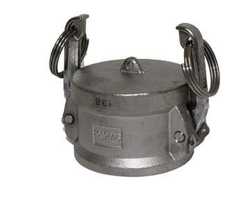 6 in. Dust Cap 316 Stainless Steel Female End Coupler