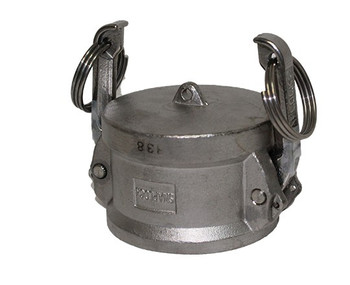 6 in. Dust Cap 316 Stainless Steel Camlock (Female End Coupler)