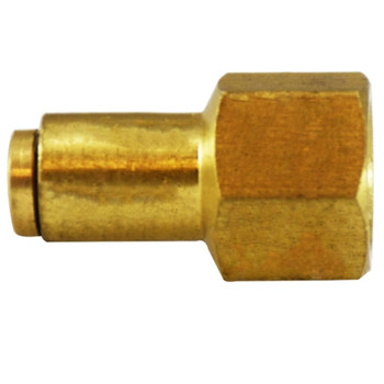 1/4 in. Tube OD x 1/8 in. Female NPTF Push In FIP Connector, Brass Push-to-Connect Fitting