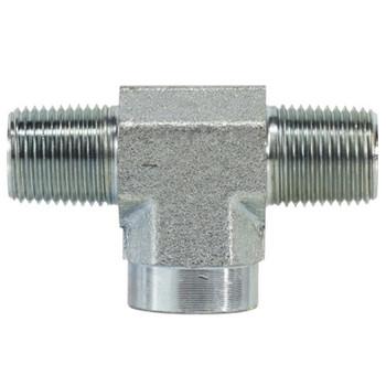 3/8 in. x 3/8 in. Female Branch Tee Steel Pipe Fittings & Hydraulic Adapter